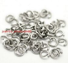 1000pcs Strong 316L Stainless steel Open Jump Ring 5x1mm Jewelry Finding Silver