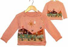 Baby Kinder Alpaka Pullover Jacke, rosa Gr.74*80, 100% Alpaca Wolle, zum Knöpfen