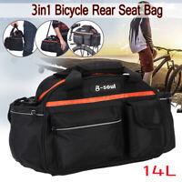 B-SOUL Bicycle Rear Rack Bag Bike Cycle Tail Seat Pannier Pouch Trunk   /*/