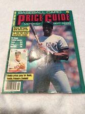 September (09)1988 Baseball Card Price Guide- Bonds, Winfield, Boggs, Bonilla