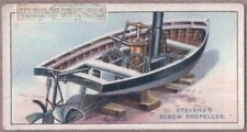 John Stevens Screw Propeller 1804 Ship Motor 1915  Ad Trade Card