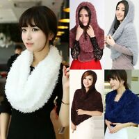 Women Ladies Girl Winter Warm Infinity Circle Cable Knit Cowl Neck Scarf Shawl