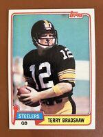 1981 Topps Terry Bradshaw Card #375 NM/ MINT - Steelers HOF