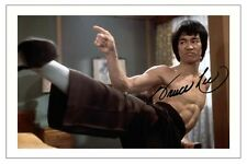 BRUCE LEE AUTOGRAPH SIGNED PHOTO PRINT KUNG FU ENTER THE DRAGON WAY OF