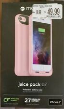 Mophie juice pack air Battery Case For iPhone 7 Rose Gold 27hours - New
