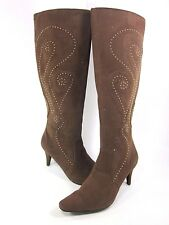ANNIE SHOES, LEXISS BOOT, WOMENS, BROWN VELVET SUEDE US 8M, NEW/DISPLAY