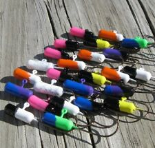 Painted Lead Tube Jigs Mixed Colors Bi-Color & Glitter Lot of 25