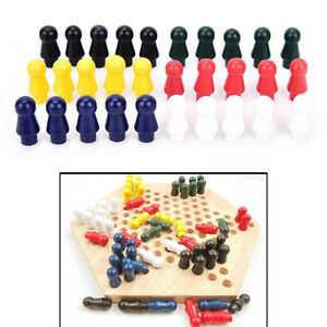 1 set chinese checkers 6 color of wooden checker replacement game parts new 'JI