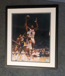 "RARE FRAMED MATTED 21""X 25"" JULIUS ERVING DR.J AUTOGRAPH PHOTO COA STEINER 76ERS"