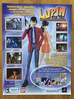 Lupin the 3rd Treasure of the Sorcerer King PS2 2004 Vintage Poster Ad Art Print