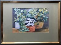 Still Life Expressive Flowers And Plant Vera Bump Hamburg 22x29 7/8in