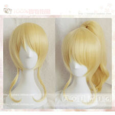 LoveLive! Love Live Ayase Eli Wig Light Blonde Cosplay Wigs Ponytail Hair S031