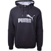 Puma Men's Essential Big Logo Black L/S Pull Over Hoodie (Retail $55)