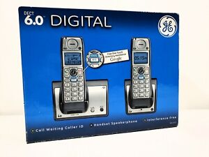 GE General Electric DECT 6.0 Digital Cordless Phone Model 28213EE2-A Call ID