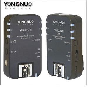 YongNuo YN622 II YN622N Inalámbrico Ttl Flash Trigger Set Para Nikon YN568EX