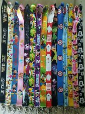 PICK ONE! DISNEY WORLD LANYARD FOR PIN TRADING! MICKEY MINNIE NEMO MARVEL B3G1