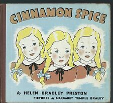 Cinnamon spice triplets by helen bradley preston and margaret braley 1939 hc
