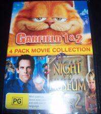 Garfield 1 & 2 / Night At The Museum 1 & 2 (Australia Region 4) 2 DVD – New