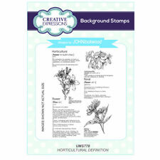 John Lockwood's Language of Flowers A6 Stamp - UMS778 Horticultural Definition
