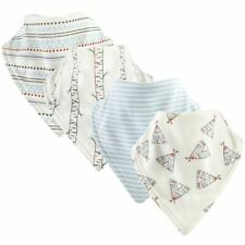 Touched By Nature Boy and Girl Organic Cotton Bandana Bibs, 4-Pack, Teepee