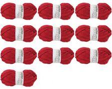 Lot de 10 Pelote de laine Tradition Tricot Neige: Rouge