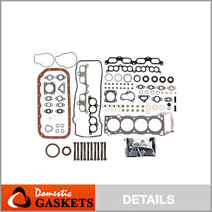 Fits 95-04 Toyota Tacoma T100 4Runner 2.7 2.4L Full Gasket Set Bolts 2RZFE 3RZFE