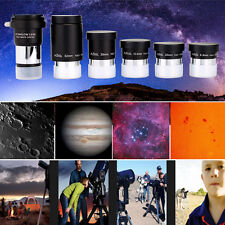"New Brand 5pcs 1.25""Fully Coated Eyepiece Kit&2X Barlow for Astronomy Telescope"