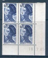 TIMBRE N° 2240  NEUF XX LUXE - COIN DATE DU 18-7-85 - LIBERTE DE GANDON