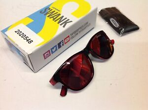 Tifosi Swank Crimson Onyx Sunglasses with Smoke Red Lenses