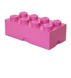 Lego Storage Set 4004 Storage Brick 2 x 4 Pink Brand New