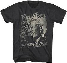Billy Idol 1984 Rebel Yell Tour Music Punk New Wave Rock British T Tee Shirt