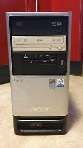 ATX Acer Mini Tower Aspire T350 +1xLW+NETZTEIL+SmartMedia Slot+HDD- zum Ausbau