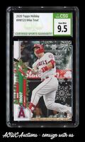 2020 Topps Holiday #HW123 - Mike Trout (Los Angeles Angels) - CSG Gem Mint 9.5