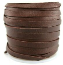 "New listing Deerskin Deer Leather Lace Spool 3/16"" 5Mm 50 Ft Cord String Chocolate Brown"