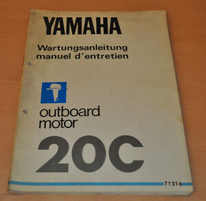 Yamaha 20C Werkstatthandbuch Aussenbordmotor Outboard Wartungshandbuch