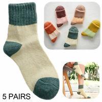 5 Paar Thermo Socken Damen Socken Kinder Mädchen Socken Warme Wintersocken