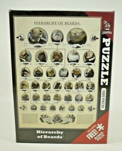 Bearstache - Hierarchy of Beards 1000 Piece Jigsaw Puzzle - 100% Complete