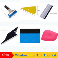 6 Pcs SUV Car Window Film Tint Tool Kit Vinyl Squeegee Cleaning Tools Universal