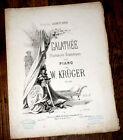 Galathée illustrations dramatiques Op.120 pour piano 1864 W. Krüger