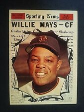 1961 Topps Willie Mays All-Star  #579, San Francisco Giants, SF, EX