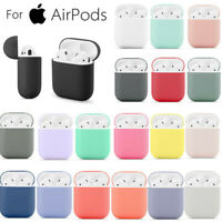 Protective Soft Silicone TPU Cover Skin For Apple Airpods 2nd 1st Charging Case