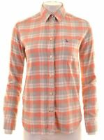 JACK WILLS Womens Flannel Shirt UK 8 Small Multicoloured Check  FB06
