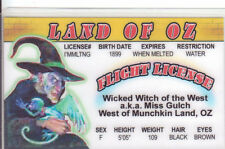 Wicked Witch of  Land of Oz novelty id card Drivers License Wizard w w denslow