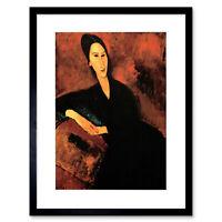 Amedeo Modigliani Portrait Of Anna Zborowska Framed Wall Art Print