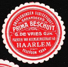 VINTAGE CINDERELLA Fine Rusks G De Vries Harlem Netherlands Tape Remnant I