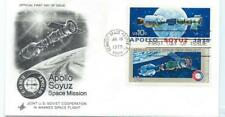 1975 Apollo Soyuz Official First Day Issue Us & Russia Joint Manned Space Flight