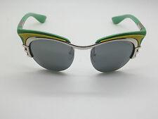 NEW Authentic PRADA SPR 60O HOT ROD 1BC-7W1 2012 Runway Green Retro Sunglasses