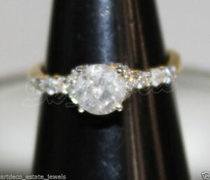 1.46ct ROUND SOLITAIRE DIAMOND 18k SOLID YELLOW GOLD ENGAGEMENT RING SIZE 7 TO 9