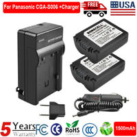 2X CGA-S006 Rechargeable Battery +Charger for Panasonic Lumix DMC-FZ35 Camera