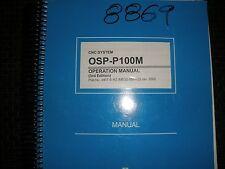 Okuma Cnc Osp-P100M Control Operation Manual